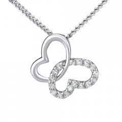 Stříbrný náhrdelník s motýlkem