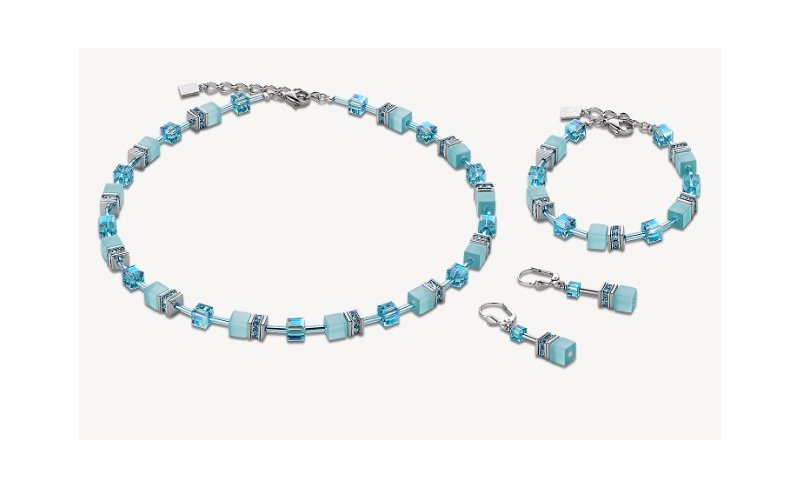 Náhrdelník s náramkem a náušnicemi COEUR DE LION pro větší slečny (k  dispozici jednotlivě nebo jako set a v různých barvách) 1257637bd1