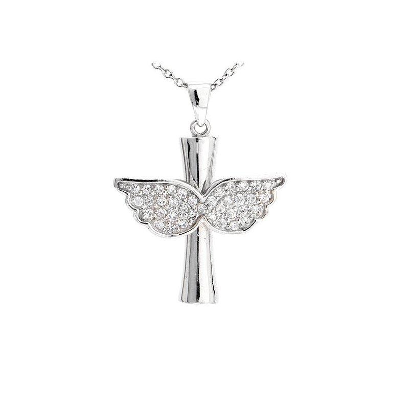 beb1ba3e6 Stříbrný přívěsek - stylizovaný anděl | Zlato-stříbro.cz