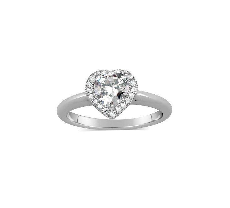 Stříbrný prsten - srdce se zirkony  34a938ede72