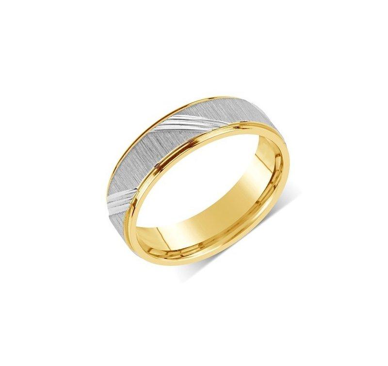Ocelovy Snubni Prsten Rrc140 Zlato Stribro Cz
