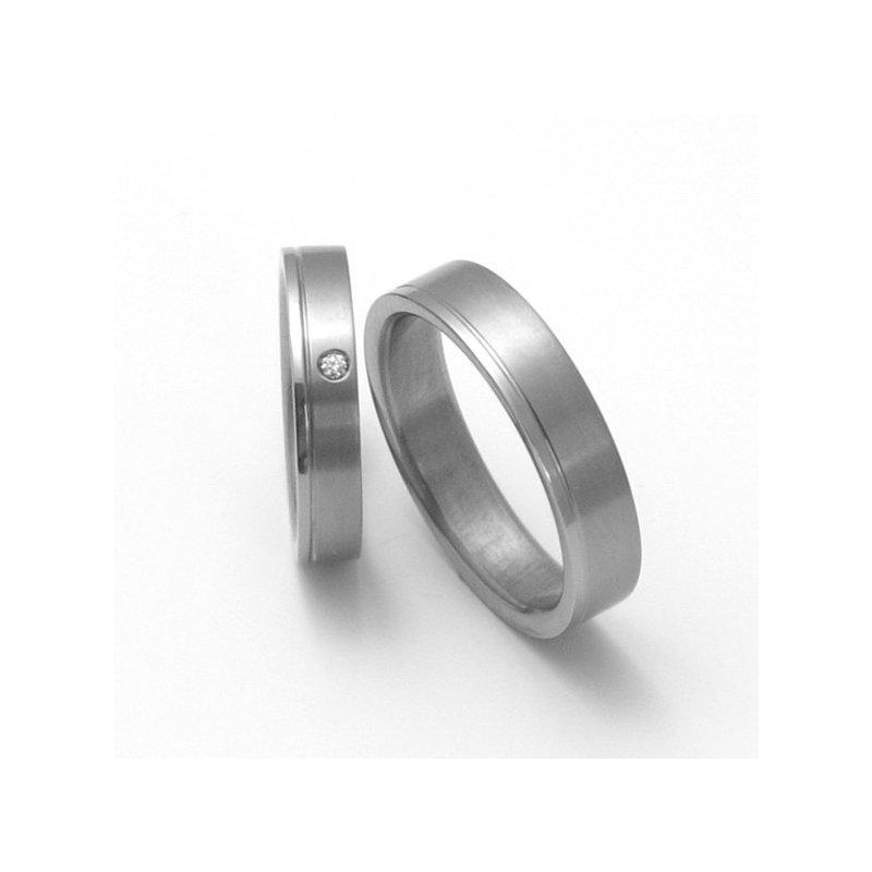 Titanove Snubni Prsteny Stt0300 Zlato Stribro Cz