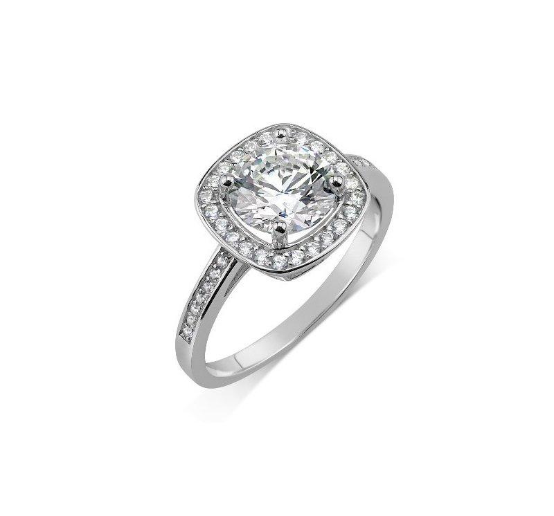 Stříbrný prsten Swarovski Zirconia čtvercový a2d797ecee1