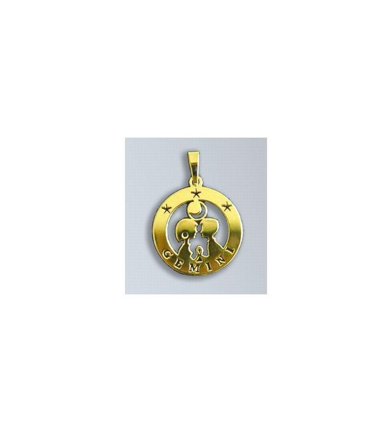 Zlatý přívěsek Blíženci - latinský nápis  dc0033a8ba2